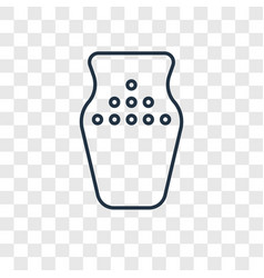 Vase concept linear icon isolated on transparent vector