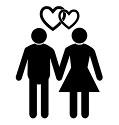 wedding married couple vector image