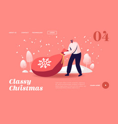 winter season holiday landing page template male vector image