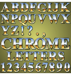 Chrome Metal Letters vector image vector image