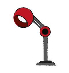 Lamp office draw vector