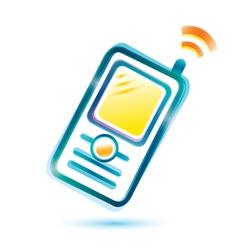 mobile sigle icon vector image