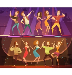 Night Club Disco Dance Banners Set vector image vector image