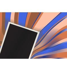 retro photo card vector image