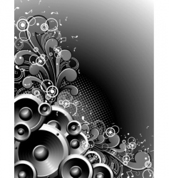 speakers with grunge vector image