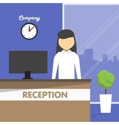Workplace secretary receptionist office vector