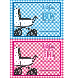 birth cards vector image vector image