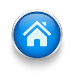 Blue home icon vector image vector image