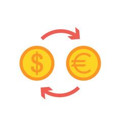 currency exchange flat icon vector image vector image