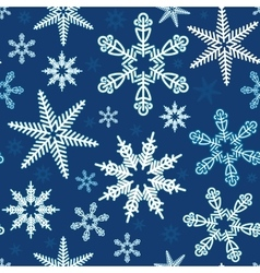 Seamless of white snowflakes vector image vector image