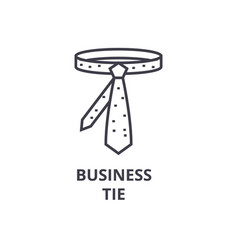 business tie line icon outline sign linear vector image vector image