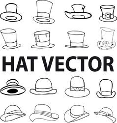 fashion hat vector image