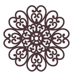 floral filigree on background vector image vector image