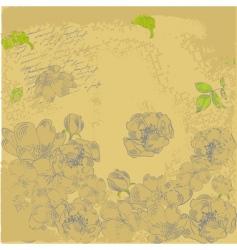 grunge retro stylized background vector image vector image
