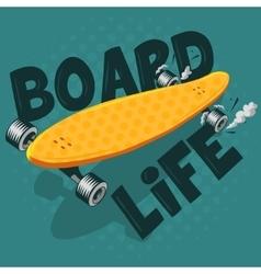 Long Board Board Life vector image