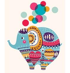 Lovely cute Elephant vector image