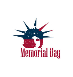 memorial day statue of liberty on a white vector image vector image