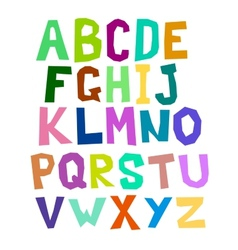 Multicolored alphabet vector image