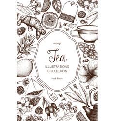 Tea design vector