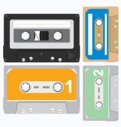 cassette vector vector image