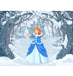 Princess and Bird vector image