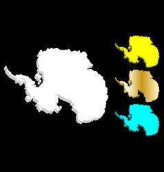 3d map of antarctica vector image