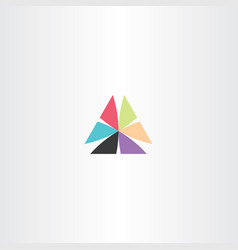 abstract business logo triangle sign element icon vector image