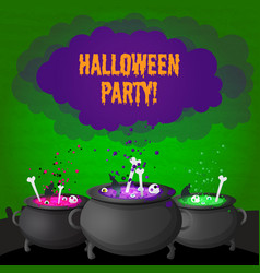abstract halloween party poster vector image