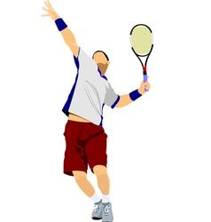 Al 0311 tennis player 03 vector