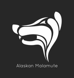 Alaskan Malamute Logo vector image