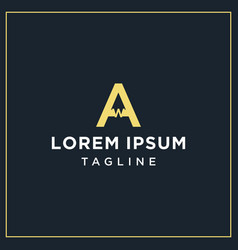 Aw monogram logo vector
