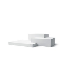 background 3d white podium product isolated on the vector image