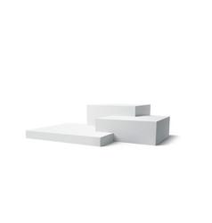 background 3d white podium product isolated vector image