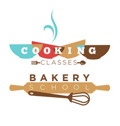 Bakery school or cooking classes icon vector