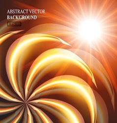 beautiful orange swirl background vector image