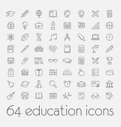 Big set education icons vector