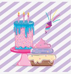 birthday celebration cartoons vector image