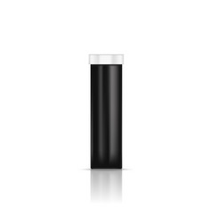 blank black pills container without label isolated vector image