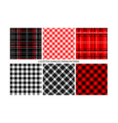 buffalo check plaid patterns vector image