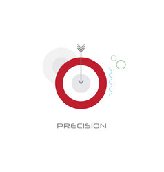 business aim strategy target arrow precision vector image
