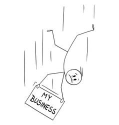 cartoon man or businessman falling down vector image