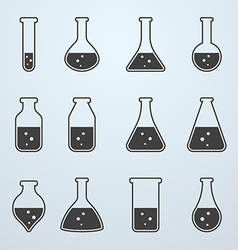 Chemical biological science laboratory equipment vector image