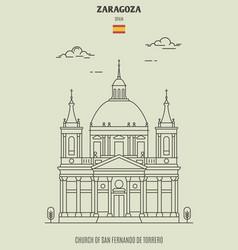 church san fernando de torrero in zaragoza vector image