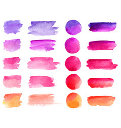 colorful watercolor brush strokes rainbow vector image