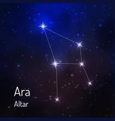 Constellation in night starry sky vector