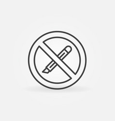 Do not use boxcutter tool or stationery knife vector