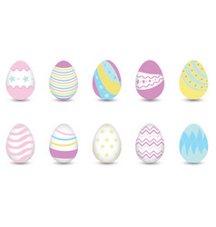 Easter eggs for decoration vector