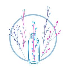 Eco natural cosmetic design-01 vector