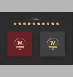 Elegant luxury brand logo design template vector