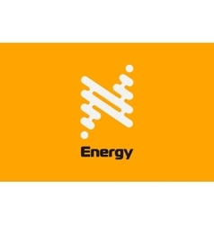 Energy logo design Flash logo Line logo concept vector image